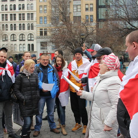 Union Square, Manhattan Freedom Day of Belarus